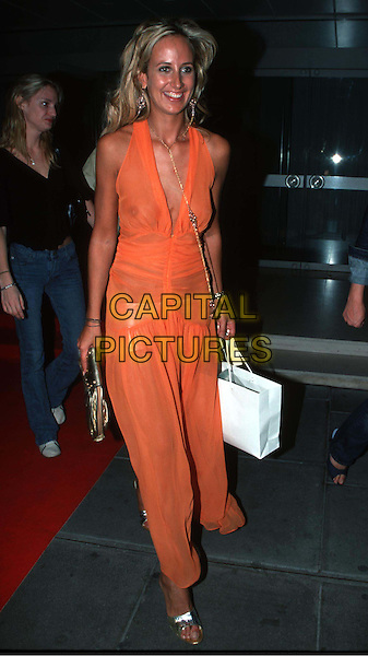 LADY VICTORIA HERVEY..Lady Victoria Hervey outside leaving party at ... Lady