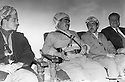 Iraq 1974 <br /> The resumption of hostilities, Mustafa Barzani with his sons Masoud  and Idris Barzani and Fuad Aref   <br /> Irak 1974 <br /> La reprise de la lutte arm&eacute;e, Mustafa Barzani entoure de ses 2 fils, Masoud et Idris Barzani et Fuad Aref