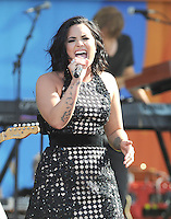 NEW YORK, NY - June 24 : Demi Lovato performs in Central Field at Rumsey Playfield as part of the Good Morning America Summer Concert Series on June 24 in New York City .  Photo Credit:John Palmer/ Media Punch