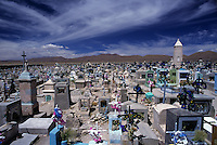 Cemetery in the city of Uyuni, Bolivia.