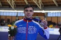 SPEEDSKATING: BERLIN: Sportforum Berlin, 29-01-2017, ISU World Cup, 500m Men A Division, winner Ruslan Murashov (RUS), ©photo Martin de Jong
