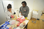 Oxford High School sophomores volunteer at The Pantry as part of Community Help Day on Tuesday, February 23, 2010. Students volunteered at many areas around the county, including the Pantry.