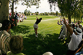 Apr. 1, 2006; Rancho Mirage, CA, USA; Michelle Wie hits her second shot out of the rough on the 2nd hole at the Kraft Nabisco Championships at Mission Hills Country Club. ..Mandatory Photo Credit: Darrell Miho.Copyright © 2006 Darrell Miho .
