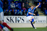 St Johnstone v Brechin...07.01.12  Scottish Cup Round 4.Liam Craig's free kick hits the wall.Picture by Graeme Hart..Copyright Perthshire Picture Agency.Tel: 01738 623350  Mobile: 07990 594431
