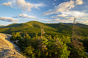 Scenic view from Middle Sugarloaf Mountain in Bethlehem, New Hampshire USA during the summer months.