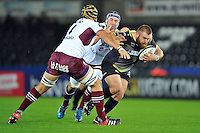 Dmitri Arhip of the Ospreys takes on the Bordeaux Begles defence. European Rugby Champions Cup match, between the Ospreys and Bordeaux Begles on December 12, 2015 at the Liberty Stadium in Swansea, Wales. Photo by: Patrick Khachfe / JMP