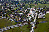 aerial photograph Stanford Linear Accelerator Menlo Park, California