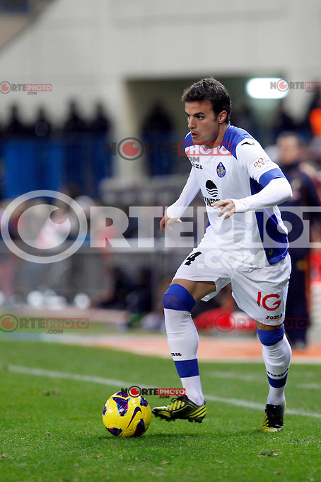 Getafe's Pedro Leon during La Liga Match. November 11, 2012. (ALTERPHOTOS/Abraham Carralero) /NortePhoto