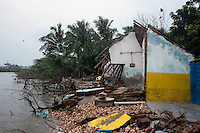 Remains of a Tsunami (2004) affected building at a village in Cuddalore. The owner of this house fled during Tsunami never to come back. Tamil Nadu, India.
