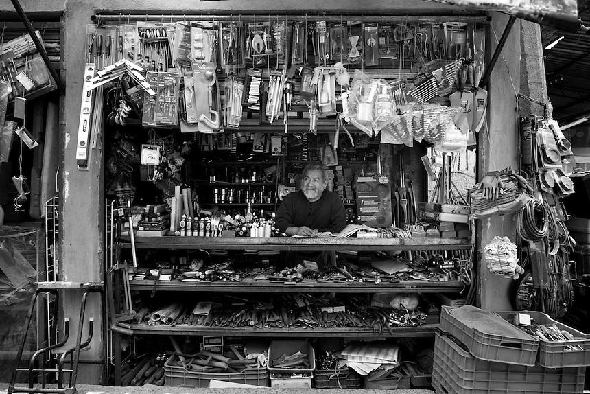 Juan B. Jimenez. Hardware store owners in San Juan Pantitlán, Nezahualcoyotl, DF,  Mexico