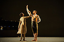 "Alston Dance Company presents ""An Italian In Madrid"" at Sadler's Wells. choreographed by Richard Alston, lighting design by Karl Oskar Sordal, costume design by Fotini Dimou. Picture shows: Vidya Patel (Princess Maria Barbara), Liam Riddick (Prince Fernando of the Asturias)"