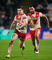 Picture by Alex Whitehead/SWpix.com - 10/03/2017 - Rugby League - Betfred Super League - Hull FC v St Helens - KCOM Stadium, Hull, England - St Helens' Mark Percival in action.