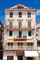 Italian Style aprtments of Corfu City, Greek Ionian Islands