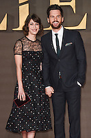 LONDON, UK. November 21, 2016: Lizzy Caplan &amp; Tom Riley at the &quot;Allied&quot; UK premiere at the Odeon Leicester Square, London.<br /> Picture: Steve Vas/Featureflash/SilverHub 0208 004 5359/ 07711 972644 Editors@silverhubmedia.com