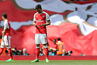 Mesut Ozil of Arsenal prays before Arsenal vs Everton, Premier League Football at the Emirates Stadium on 21st May 2017