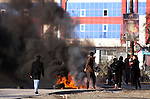 SULAIMANIYAH, IRAQ: Tires are set on fire...A second day of protests rocked the Kurdish Iraqi city of Sulaimaniyah.  Security forces used, batons, water canons, and live rounds.  At least 14 people were wounded...Photo by Haedar Omar