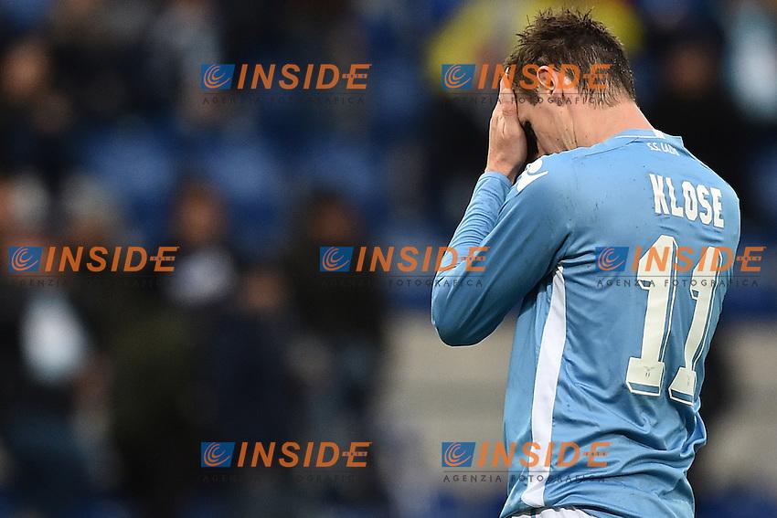 Delusione Miroslav Klose Lazio.<br /> Roma 6-01-2016 Stadio Olimpico, Football Calcio 2015/2016 Serie A Lazio - Carpi. Foto Antonietta Baldassarre / Insidefoto