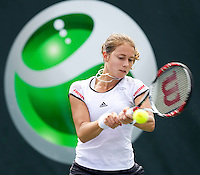 Stefanie VOEGELE (SUI) V Alize CORNET (FRA) in the first round. Cornet beat Voegele 6-3 0-6 6-2..International Tennis - 2010 ATP World Tour - Sony Ericsson Open - Crandon Park Tennis Center - Key Biscayne - Miami - Florida - USA - Wed 24 Mar 2010..© Frey - Amn Images, Level 1, Barry House, 20-22 Worple Road, London, SW19 4DH, UK .Tel - +44 20 8947 0100.Fax -+44 20 8947 0117