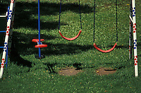 backyard swing,see saw, set of playground equipment