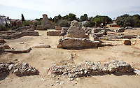 The Thermal Baths; Villa of El Munts; Between First and middle of Second Century AD, Tarragona (Tarraco, Hispania Citerior), Catalonia, Spain; one of the largest built on a hill overlooking the coast, only 12 km from Tarragona (Tarraco). © Manuel Cohen