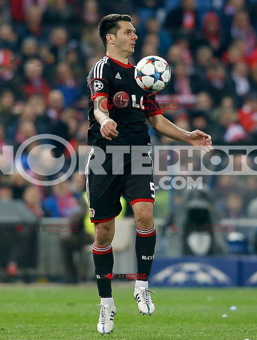 Bayer 04 Leverkusen's Emir Spahic during Champions League 2014/2015 match.March 16,2015. (ALTERPHOTOS/Acero) /NORTEphoto.com