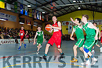 Keelan O'Donoghue,  St Mary's looks to score against Bobcats during the U14 Boys final at the St Marys Christmas basketball blitz in Castleisland on Friday