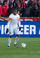 20 April 2013: Houston Dynamo defender Kofi Sarkodie #8 in action during an MLS game between the Houston Dynamo and Toronto FC at BMO Field in Toronto, Ontario Canada..The game ended in a 1-1 draw...