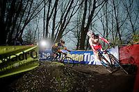 Kevin Pauwels (BEL/Sunweb-Napoleon Games) proceeding Belgian Champion Sven Nys (BEL/Crelan-AAdrinks)<br /> <br /> Flandriencross Hamme 2014