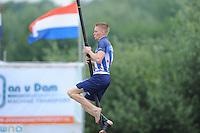 FIERLJEPPEN: POLSBROEKERDAM: 24-08-2013, NK Fierljeppen, Age Hulder, ©foto Martin de Jong