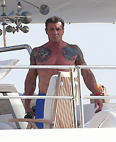 Sylvester Stallone & family cruising in Corsica aboard super yacht - EXCLUSIVE
