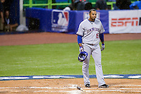 10 March 2009: #15 Nelson Cruz of the Dominican Republic is dejected after striking out during the 2009 World Baseball Classic Pool D game 5 at Hiram Bithorn Stadium in San Juan, Puerto Rico. The Netherlands pulled off second upset to advance to the secound round. The Netherlands come from behind in the bottom of the 11th inning and beat the Dominican Republic, 2-1.