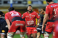 Steffon Armitage of Toulon looks on. European Rugby Champions Cup match, between Bath Rugby and RC Toulon on January 23, 2016 at the Recreation Ground in Bath, England. Photo by: Patrick Khachfe / Onside Images