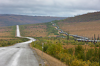 James Dalton Highway, commonly called the Haul Road, Trans Alaska oil pipeline, Alaska.