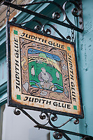 Judith Glue Shop Sign in Kirkwall, Orkney Islands, Scotland