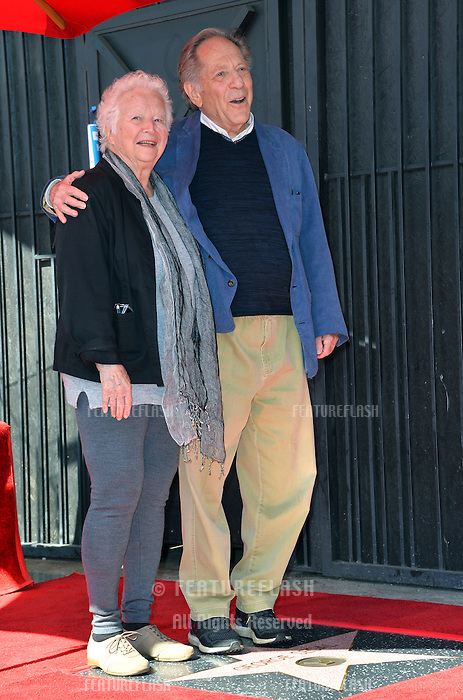 George Segal &amp; wife Sonia Segal at the Hollywood Walk of Fame Star Ceremony honoring actor George Segal. Los Angeles, USA 14 February  2017<br /> Picture: Paul Smith/Featureflash/SilverHub 0208 004 5359 sales@silverhubmedia.com