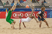 Papeete, Tahiti - Monday, September 23, 2013: US Men's National Beach Soccer Team defeats United Arab Emirates 6-4 in their  last game of the 2013 Fifa Beach Soccer World Cup.