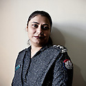Lady police inspector Anila Unar of the West Karachi Police Station.