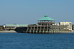 Folly Beach Pier from the water South Carolina on the Atlantic Ocean