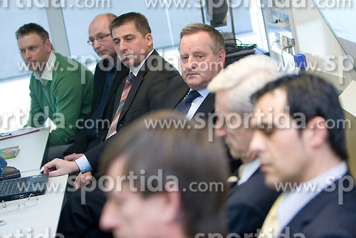 Tugo Frajman, candidate for the president of Slovenian football federation at press conference,  on January 23, 2009, in Ljubljana, Slovenia.  (Photo by Vid Ponikvar / Sportida)