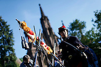 Actors dress up as soldiers from the civil war while they take part during the Memorial day commemorations at Green Wood cemetery in New York City, United States 05/23/2015. Kena Betancur/VIEWpress