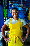Woman Worker In Banana Factory In Costa Rica.