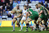 Thomas Waldrom of Exeter Chiefs in possession. Aviva Premiership match, between London Irish and Exeter Chiefs on February 21, 2016 at the Madejski Stadium in Reading, England. Photo by: Patrick Khachfe / JMP