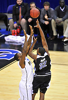 Quinard Jackson of the Bulldogs shoots a jump hook. Pittsburgh defeated UNC-Asheville 74-51 during the NCAA tournament at the Verizon Center in Washington, D.C. on Thursday, March 17, 2011. Alan P. Santos/DC Sports Box