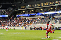 New York Red Bulls goalkeeper Bouna Coundoul (18). The New York Red Bulls defeated the Kansas City Wizards 1-0 during a Major League Soccer (MLS) match at Red Bull Arena in Harrison, NJ, on October 02, 2010.