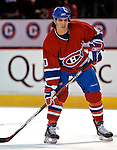 3 February 2007: Montreal Canadiens center Maxim Lapierre warms up prior to facing the New York Islanders at the Bell Centre in Montreal, Canada. The Islanders defeated the Canadiens 4-2.Mandatory Photo Credit: Ed Wolfstein Photo *** Editorial Sales through Icon Sports Media *** www.iconsportsmedia.com
