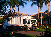 Trash collection truck.