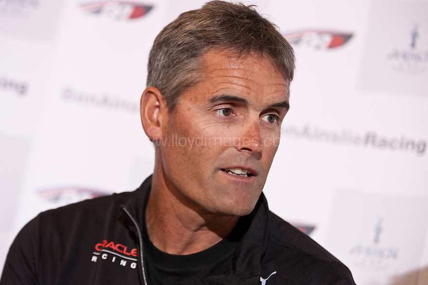 "Russell Coutts CEO of Oracle Racing, current holder and 4 times winner of the Americas Cup a. Shown here in central London at the launch of  ""Ben Ainslie Racing"". A new team that will compete in 2012 Americas Cup World Series..Credit: Lloyd Images / Ben Ainslie Racing"