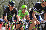 The breakaway group including Ryan Mullen (IRL) Cannondale Drapac tackle the famous cobbled climb of Kemmelberg during Gent-Wevelgem in Flanders Fields 2017 running 249km from Denieze to Wevelgem, Flanders, Belgium. 26th March 2017.<br /> Picture: Eoin Clarke | Cyclefile<br /> <br /> <br /> All photos usage must carry mandatory copyright credit (&copy; Cyclefile | Eoin Clarke)