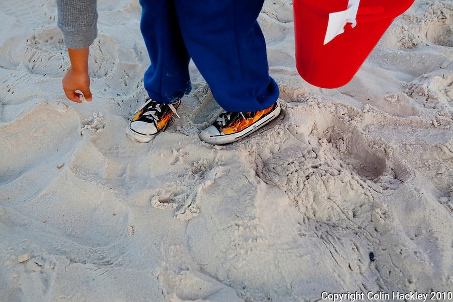 CAPE SAN BLAS, FLA. 2/17/10-CAPESB021710 CH10-The sugar sand at Cape San Blas...COLIN HACKLEY PHOTO