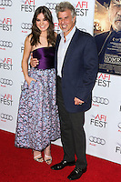 HOLLYWOOD, LOS ANGELES, CA, USA - NOVEMBER 11: Hailee Steinfeld, Peter Steinfeld arrive at the AFI FEST 2014 - 'The Homesman' Gala Screening held at the Dolby Theatre on November 11, 2014 in Hollywood, Los Angeles, California, United States. (Photo by Xavier Collin/Celebrity Monitor)